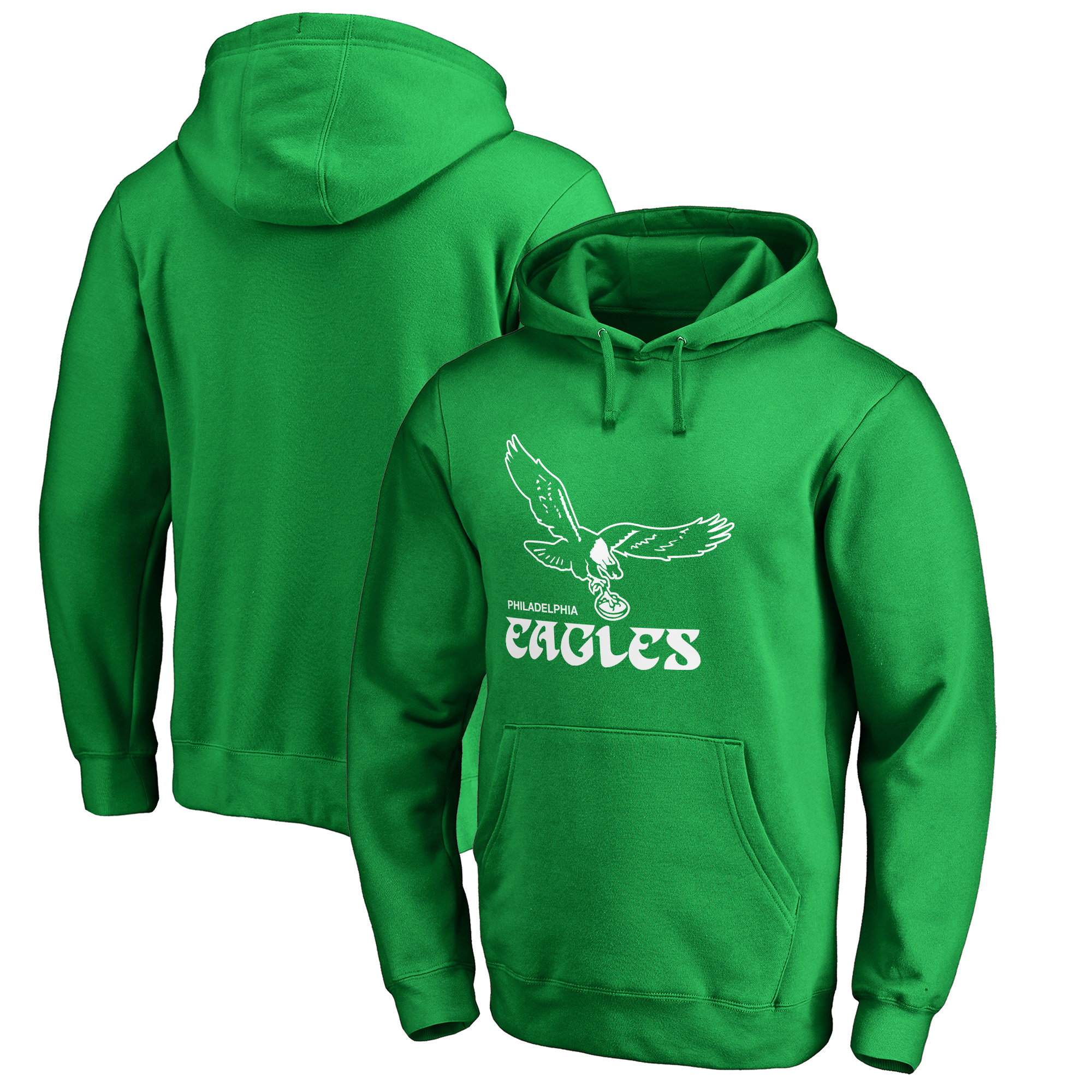 Philadelphia Eagles NFL Pro Line by Fanatics Branded Hometown Collection First Flight Pullover Hoodie - Kelly Green