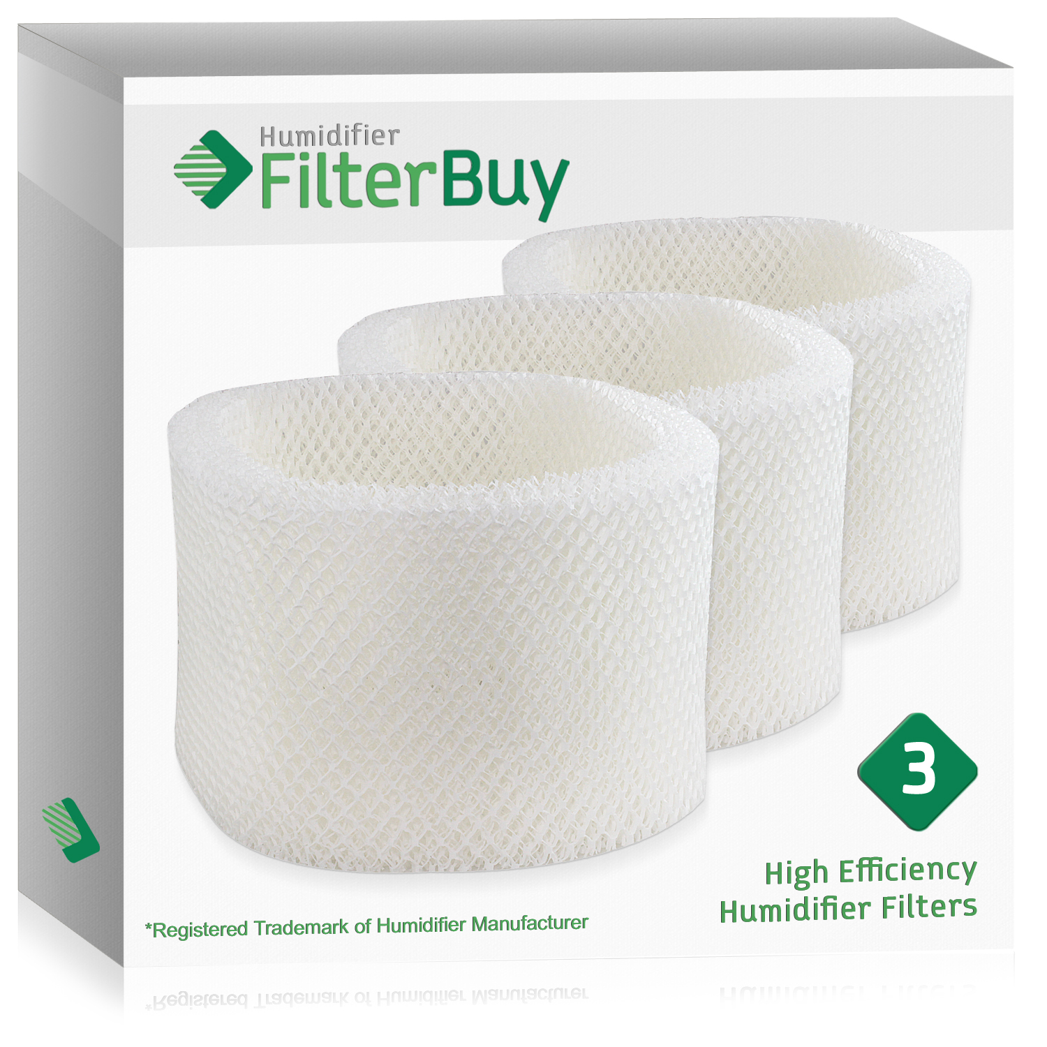 3 - HWF72 HWF75 Holmes, Touch Point, Sunbeam Humidifier Replacement Filters. Designed by FilterBuy in the USA.