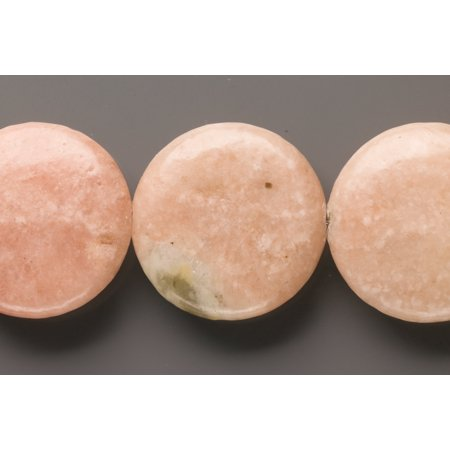 Puffed Rhodonite Flat Round Beads Semi Precious Gemstones Size: 30x30mm Crystal Energy Stone Healing Power for Jewelry Making