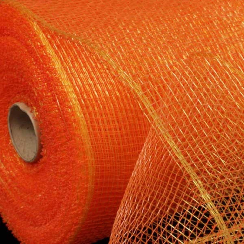 """Golden Orange Deco Mesh Craft Ribbon 6.5"""" x 80 Yards"""