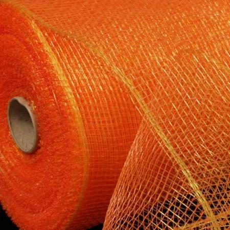 Golden Orange Deco Mesh Craft Ribbon 6.5 x 80 Yards