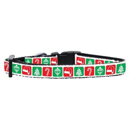 (Timeless Christmas Nylon Ribbon Collar Small)