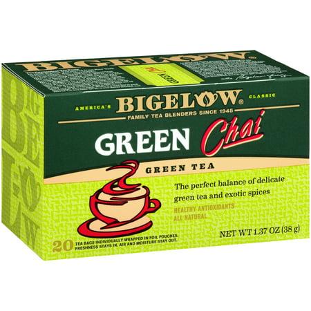 (4 Pack) Bigelow, Green Tea Chai, Tea Bags, 20 Ct