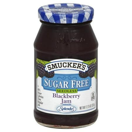 Jam Tray - (2 Pack) Smucker's Sugar Free Seedless Blackberry Jam Sweetened With Splenda, 12.75-Ounce Jar