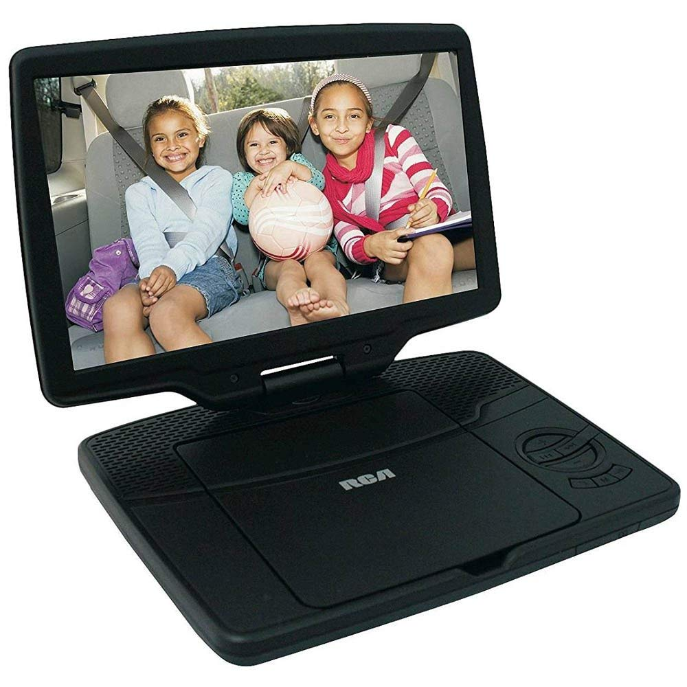 """Refurbished RCA 10"""" Portable DVD Player with Swivel Display (DRC98101S) - Black"""