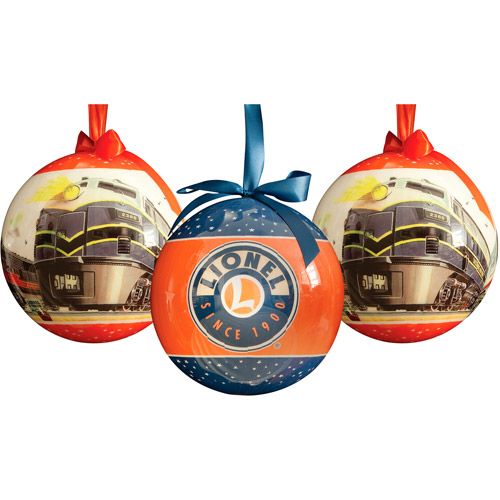 "Lionel Trains 8"" Multi-Colored Outdoor Ornaments Series 2, Set of 3"