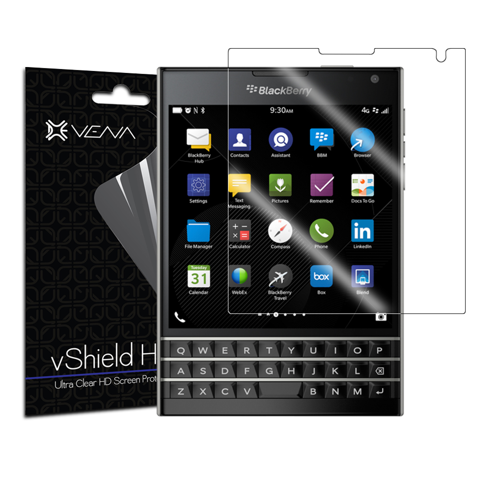 BlackBerry Passport Screen Protector - Vena vShield [Ultra Clear HD] Anti-Scratch Shield (3 Pack)