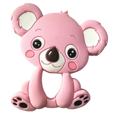 Baby Cute Cartoon Animal Teether Toys Vivid Color Educational Toy Gifts for Baby Color:Koala light blue - image 6 of 6