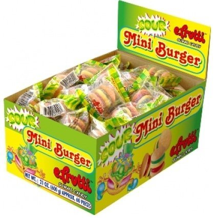 E-Frutti Sour Gummy Burgers, (Pack of 60) by MEDERER GMBH