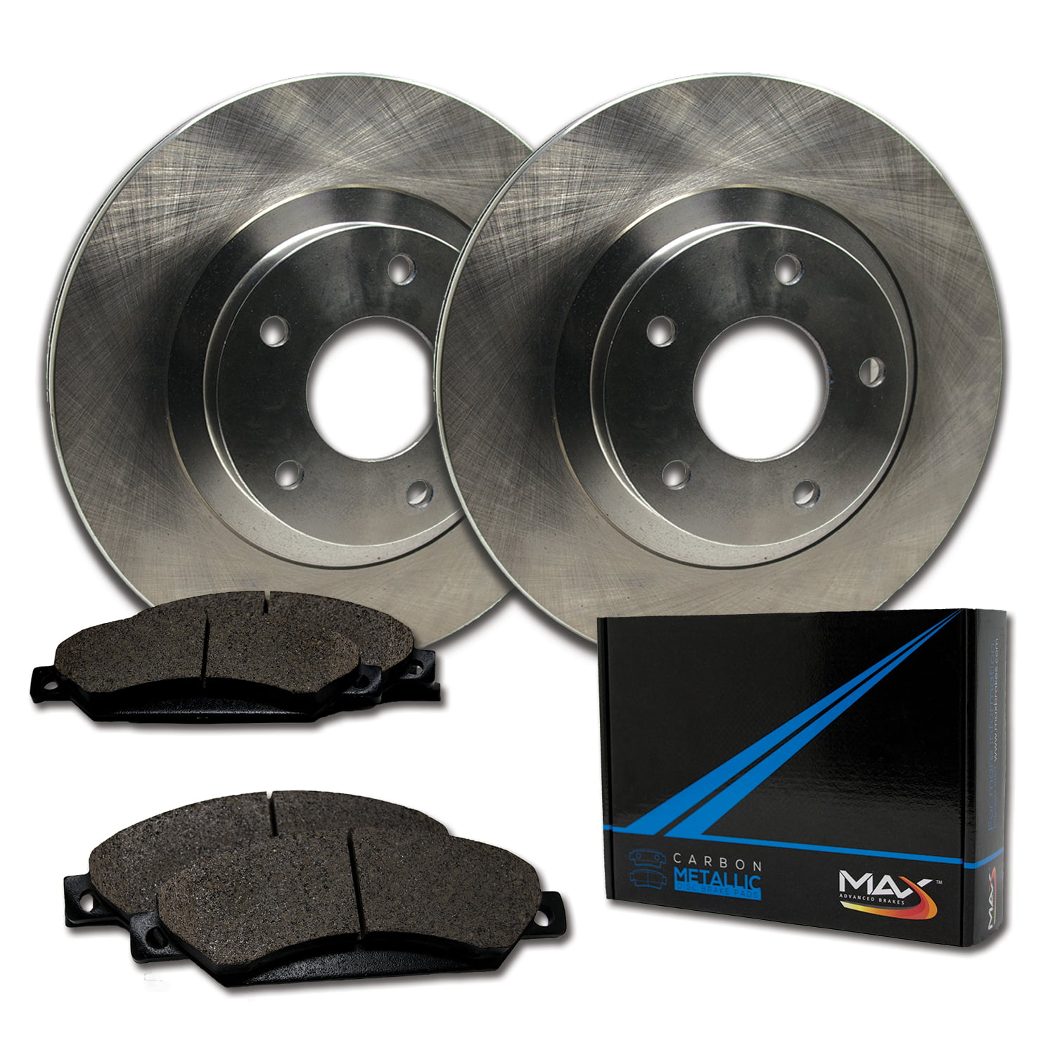 Max Brakes Rear Premium Brake Kit Fits 2014 2015 Ford Escape C Max KT172742 OE Series Rotors + Ceramic Pads