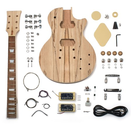 stewmac build your own lp style electric guitar kit spalted top. Black Bedroom Furniture Sets. Home Design Ideas