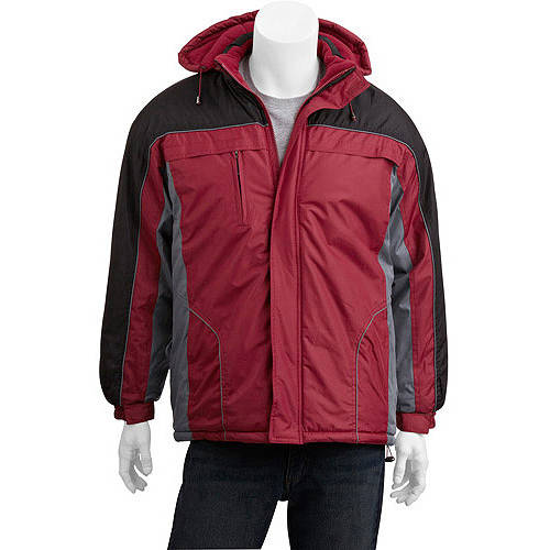 Generic Climate Concepts Big Men's Fleece Lined Jacket with Removable Hood