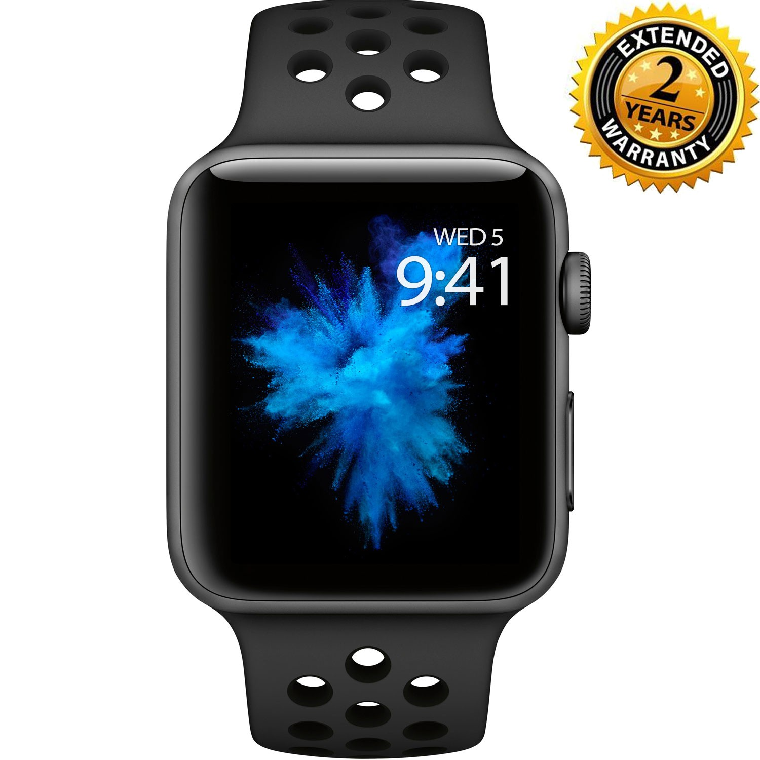 enfocar Realmente cada vez  Apple Watch Nike+ Series 3 38mm Smartwatch (GPS Only, Space Gray Aluminum  Case, Anthracite/Black Nike Sport Band Band) with 2 Year Extended Warranty  - Walmart.com - Walmart.com