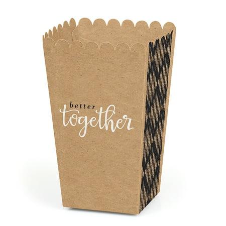 Better Together - Wedding Popcorn Favor Boxes - Set of 12](Popcorn Wedding Favors)