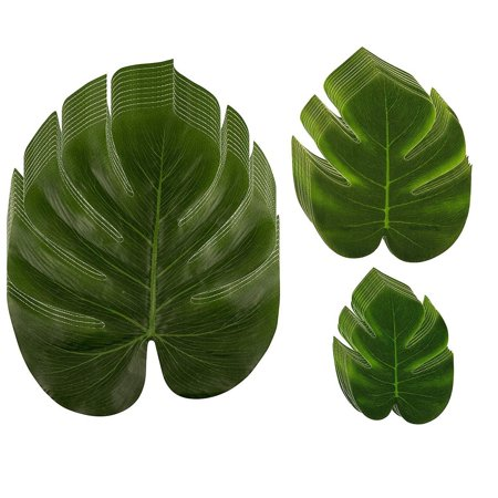 Wedding Shower Themes (Tropical Palm Leaf - 60-Pack Artificial Monstera Leaves, Summer Luau Party Decorations, Fake Safari Plant Leaves for Baby Shower, Wedding, Bridal Shower, Tropical Themed Events, Green, 3)