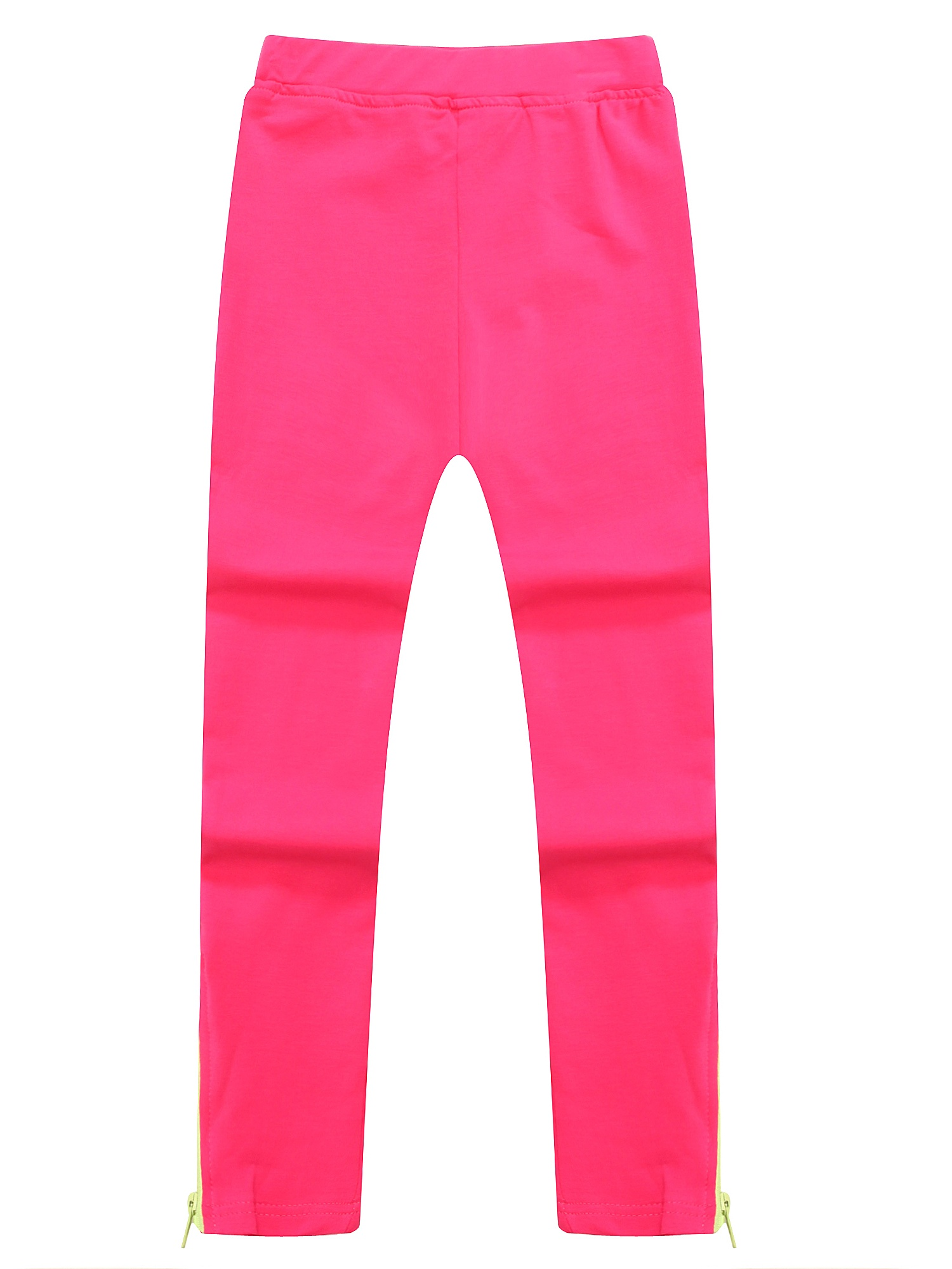 Richie House Girls' Solid Colored Knitting Pants with Zipper at Hem RH1520