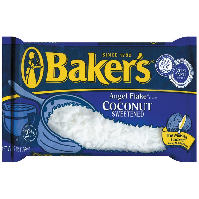 Baker's Angel Flake Coconut Sweetened, 7 Oz by Kraft Foods Grocery