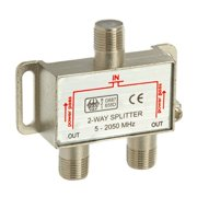 valley 2-way coax cable splitter 2ghz cable tv video hdtv