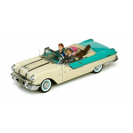64 Pontiac Star - 1955 Pontiac Star Chief Convertible - I Love Lucy, Blue - Sun Star 5057 - 1/18 Scale Diecast Model Toy Car