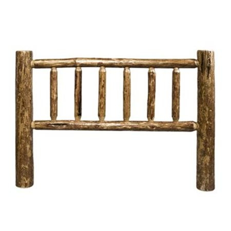 MWGCCKHB Glacier Country Full Log Headboard - Stained and Lacquered