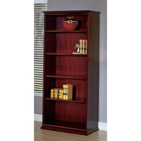 5 shelf wood bookcase for home office mendocino. Black Bedroom Furniture Sets. Home Design Ideas