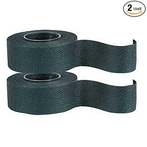 Tressostar Cloth Handlebar Tape - 2 Pack (Black), Reinforced cotton handlebar ribbon of superior quality By Velox