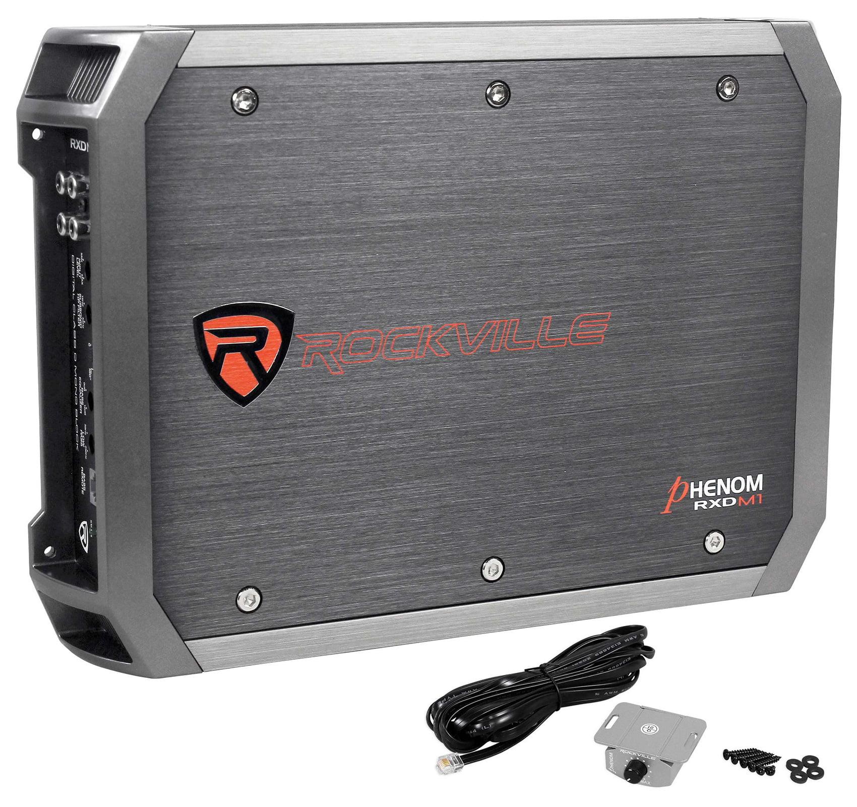 Rockville 1000w Mono Amplifier For 1) Rockford Fosgate P2-1X12 Car Subwoofer+Box