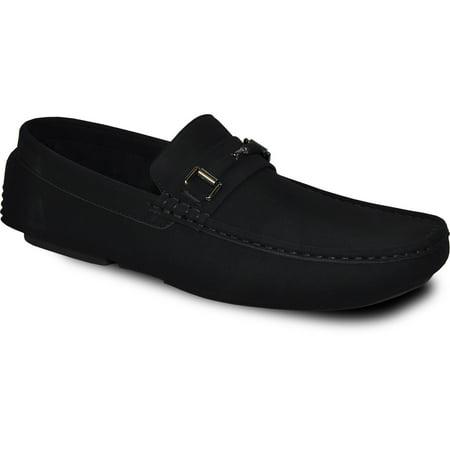 - Bravo! Men Casual Shoe Todd-1 Driving Moccasin Black 7M US