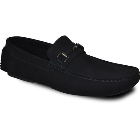 Bravo! Men Casual Shoe Todd-1 Driving Moccasin Black 7M US