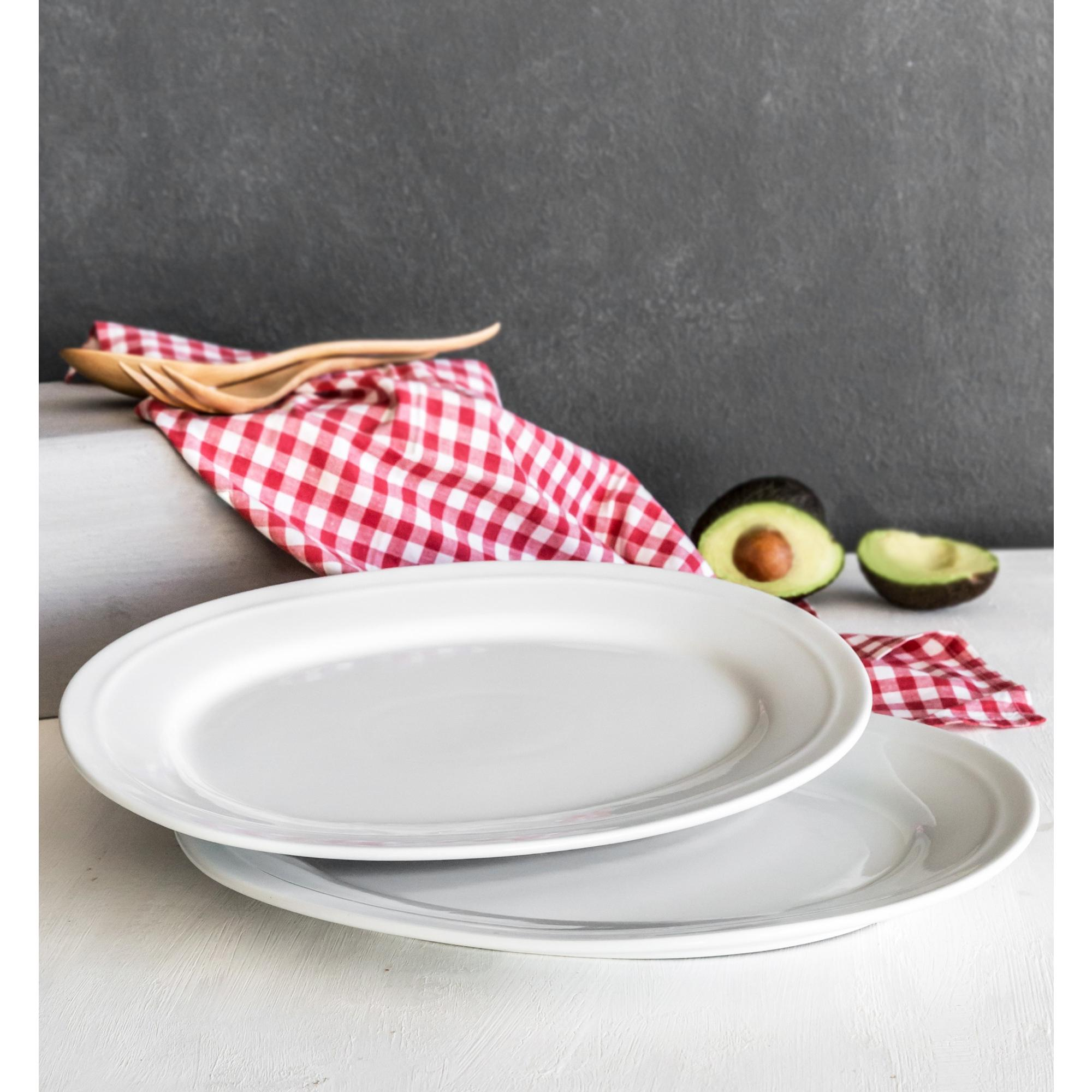 Better Homes and Gardens Oval Platters, White, Set of 2