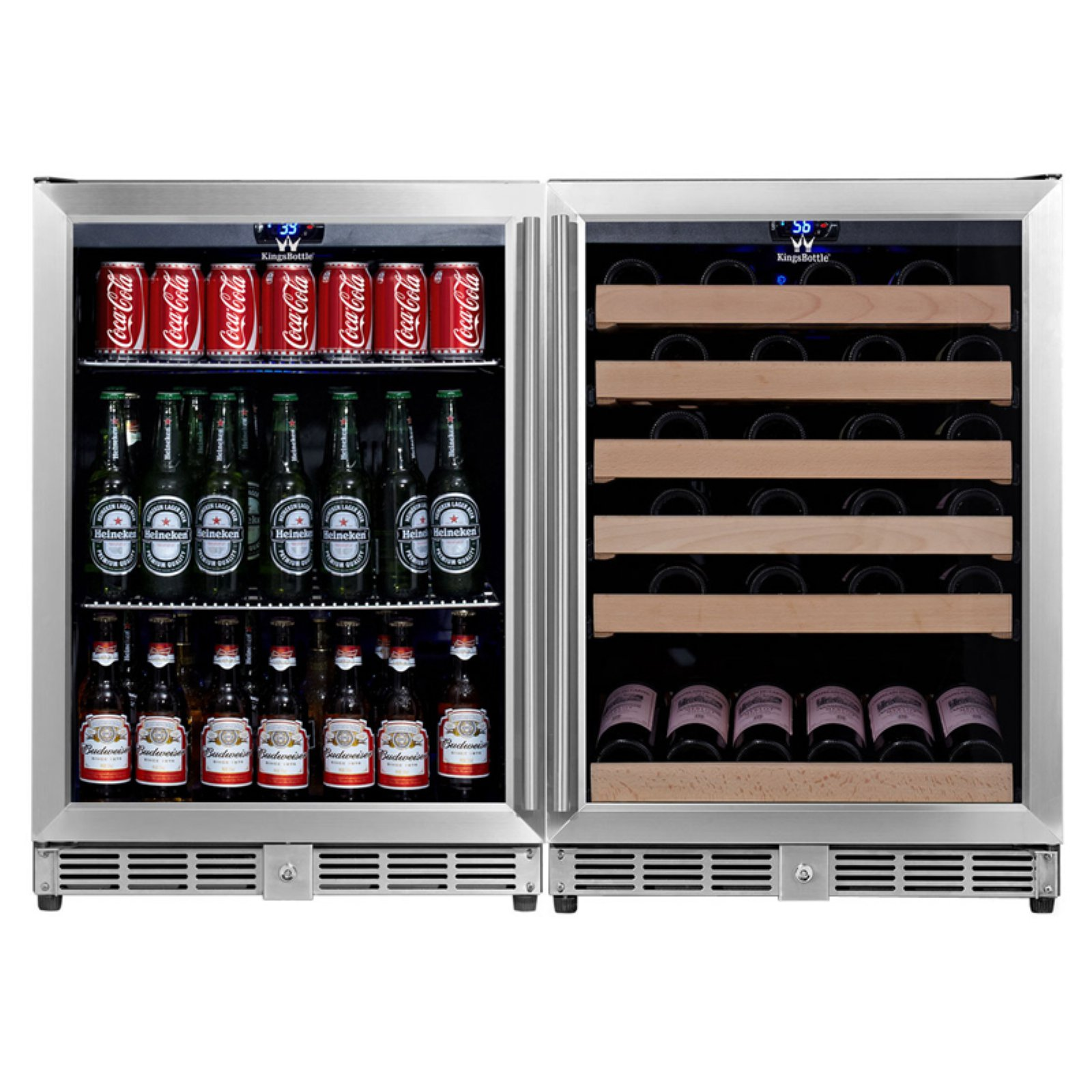 Kingsbottle 46-Wine 160-Beverage 2Temp Fridge