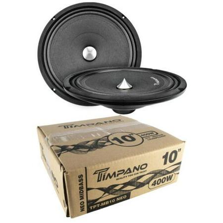 800w Bass - 2x Timpano TPT-MB10 Neo 10″ 800W Neodymium Mid Bass Loudspeaker Car Audio 4 Ohm