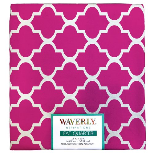 "Waverly Inspiration Fat Quarter POPPY 100% Cotton, Twist Print Fabric, Quilting Fabric, Craft fabric, 18"" by 21"", 140 GSM"