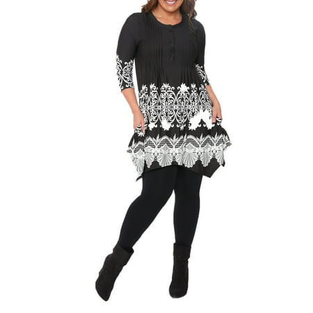 Women's Plus Size Shell Tunic Top