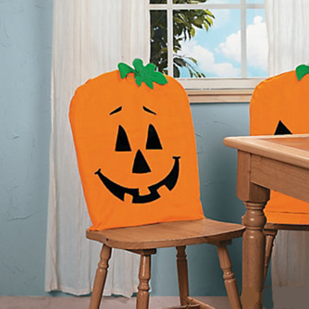 Prime Tinymills Halloween Chair Covers Cute Pumpkin Dining Chairs Back Covers Kitchen Festive Decor Holiday Decorations Caraccident5 Cool Chair Designs And Ideas Caraccident5Info