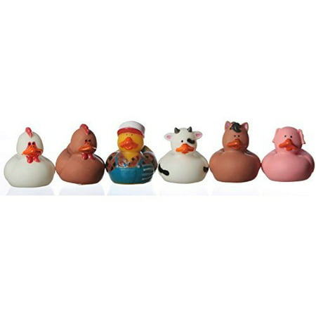 Rubber Ducky Farm Animal Party Favors [Toy] by (3-Pack of 12), You'll receive one dozen ~ 12 total. By OTC