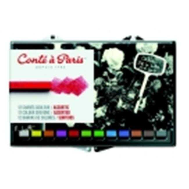 Conte Non-Toxic Crayon - 0. 25 x 0. 25 x 2. 5 inch - Pack 12