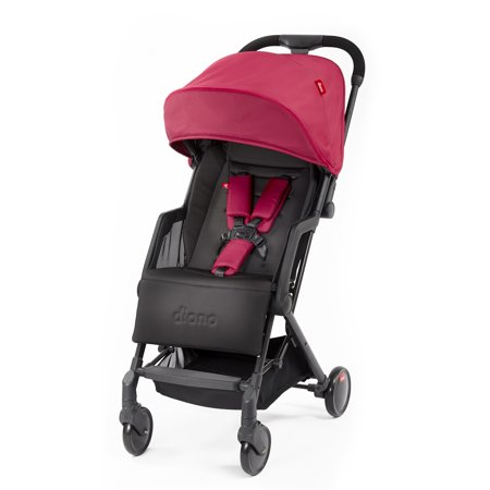 Diono Traverze Plus Lightweight Compact Stroller with Easy Fold, Travel Cover and Luggage Handle; Pink