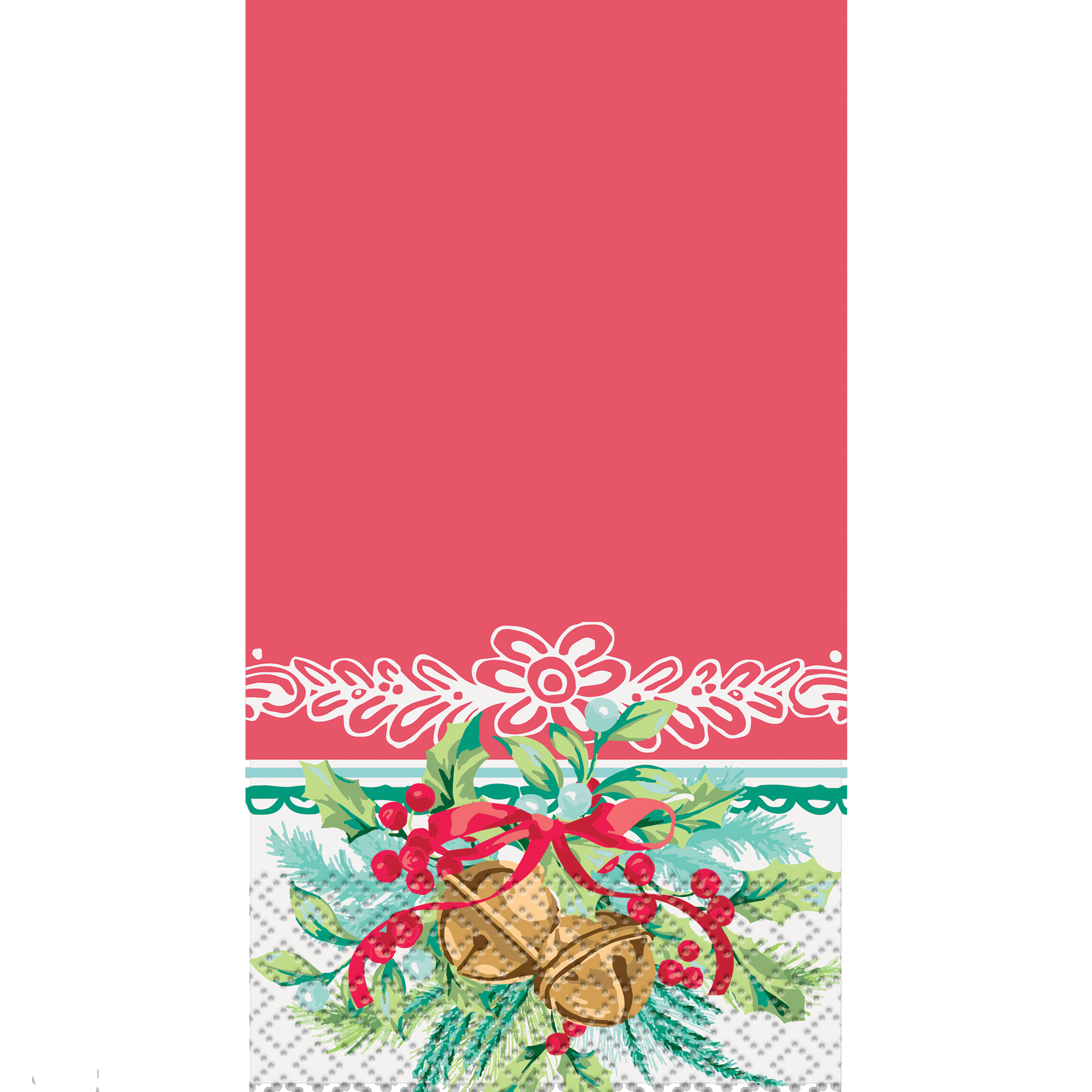 Pioneer Woman Bells & Holly Christmas Paper Guest Napkins, 7.75 x 4.5 in, 24ct