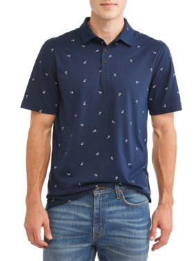 George Men's All Over Print Jersey Polo Shirt