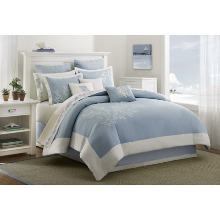 Harbor House Coastline Duvet Cover Mini Set, Full/Queen, Aqua