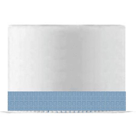 Blue and White Spiral Edible Cake Decoration Ribbon -6 Slim Strips](Edible Ribbon)