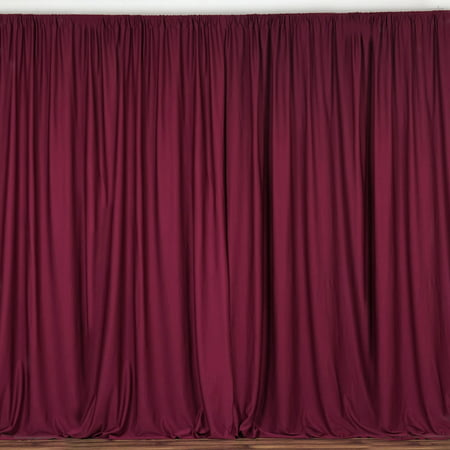 BalsaCircle 10 ft x 10 ft Polyester Professional Backdrop - Backdrop Curtains