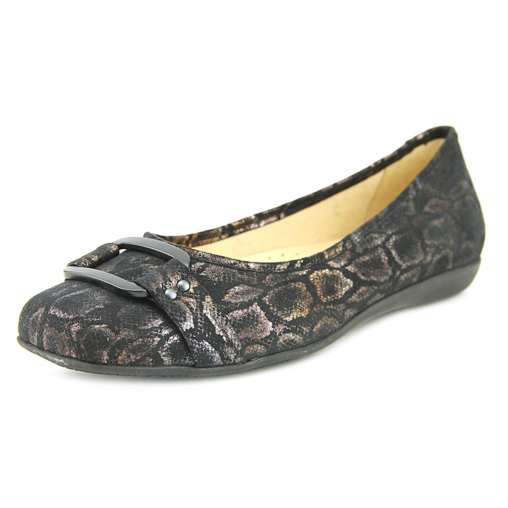 Trotters Sizzle Signature Women Round Toe Synthetic Black Flats by Trotters
