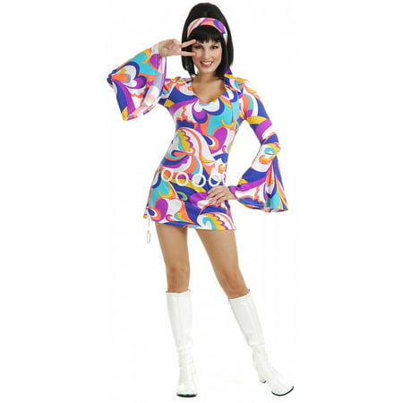 Womens Disco Hottie Halloween Costume (Old Lady Halloween Costume For Baby)