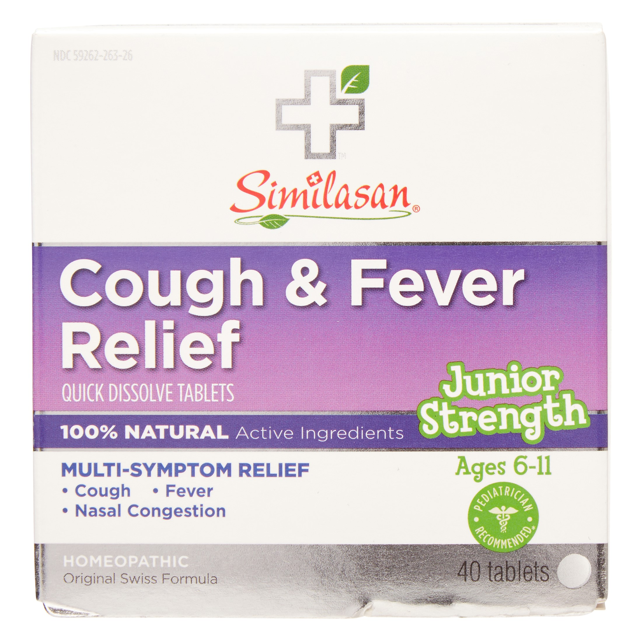 Similasan Junior Cough & Fever Relief, 40 Ct
