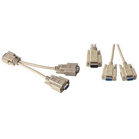 VGA SVGA Monitor Splitter Adapter PC Y-Cable Male to Dual Female by BattleBorn