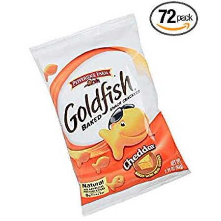 Rebels Snack - 72 PACKS : Pepperidge Fram Cheddar Goldfish Snack Cracker - 2.25 oz. bag