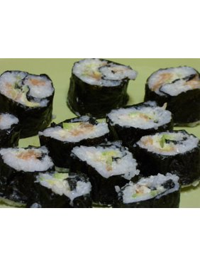 Wood Sushi Surimi Japan Algae Food Bamboo Surumi-20 Inch By 30 Inch Laminated Poster With Bright Colors And Vivid Imagery-Fits Perfectly In Many Attractive Frames