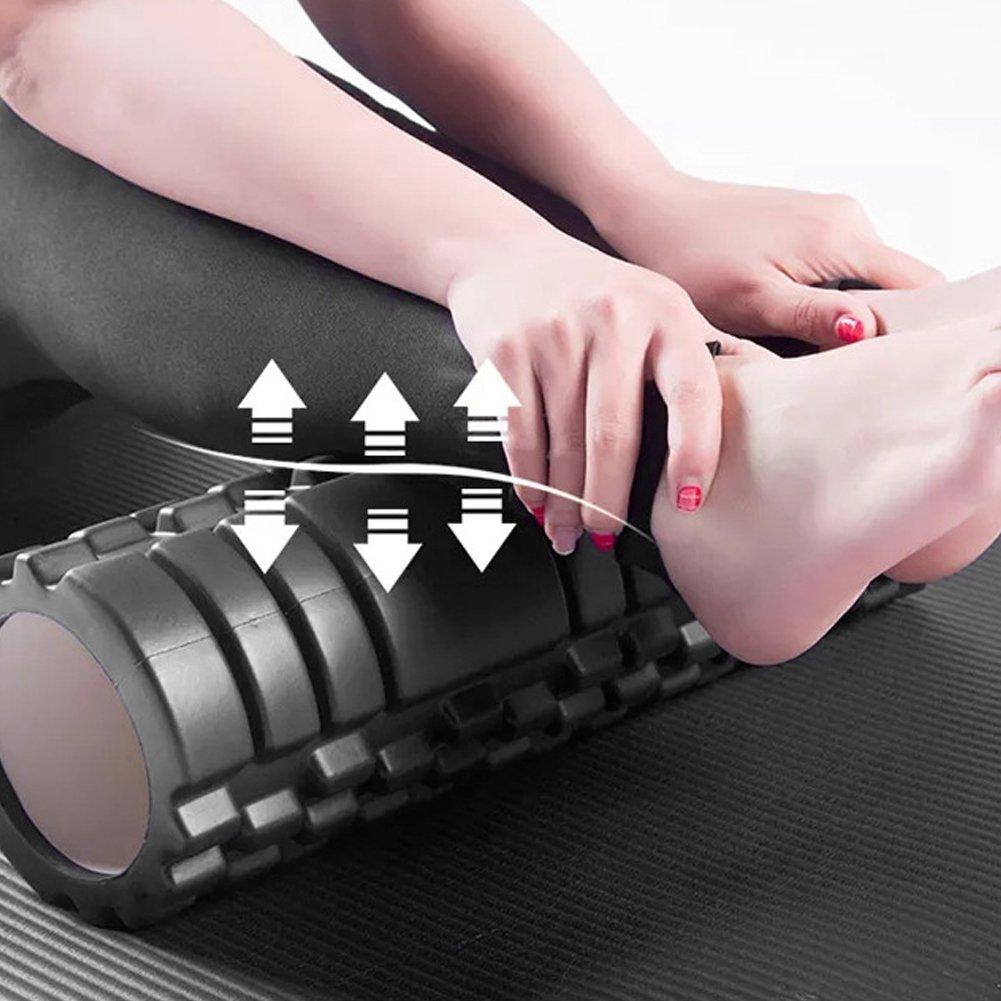 Domqga Yoga Foam Roller Fitness Roller, EVA Column Foam Roller Muscle  Relieve Point Massager for Gym Fitness Equipment Black | Walmart Canada
